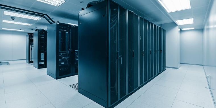 Network servers in a data centre
